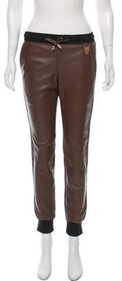 Thomas Wylde Mid-Rise Leather Joggers