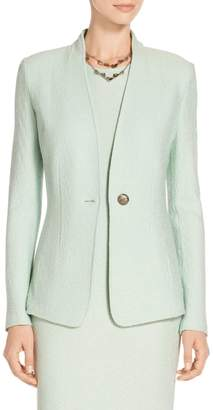 St. John Hannah Knit Funnel Neck Jacket
