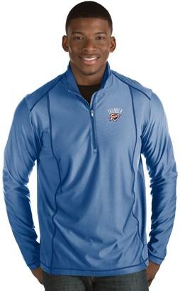 Antigua Men's Oklahoma City Thunder Tempo Quarter-Zip Pullover