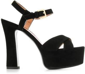 Pollini platform heel sandals