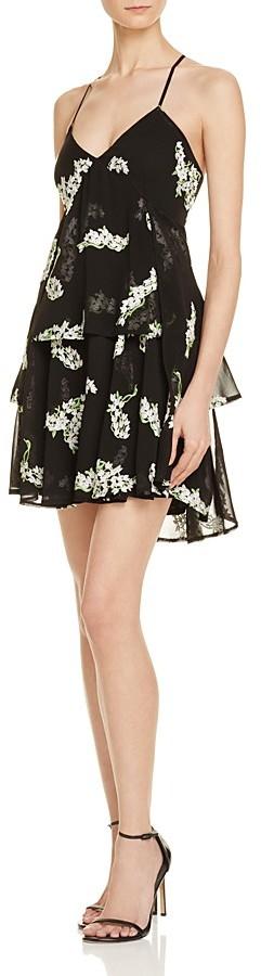 AQUA Cross-Back Floral Tiered Dress - 100% Exclusive