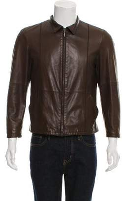 Giorgio Armani Zip-Up Leather Jacket