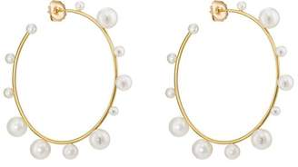 Irene Neuwirth Women's Yellow Gold & Akoya Pearl Hoop Earrings
