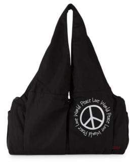 Peace Love World East West Gym Tote