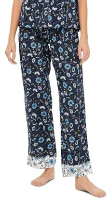 Topshop Floral Sleep Trouser Pajama Pants