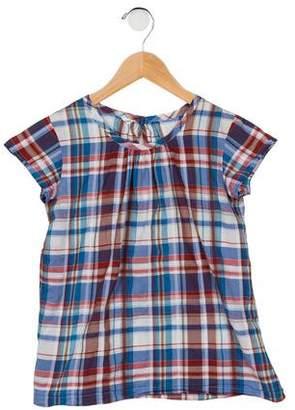 Makie Girls' Plaid A-Line Dress