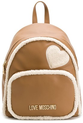 Love Moschino shearling backpack