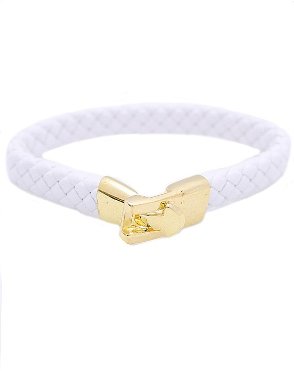 Style Tryst Woven Faux Leather Bracelet