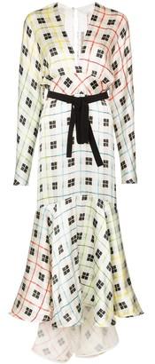 Silvia Tcherassi Angelina check fishtail dress