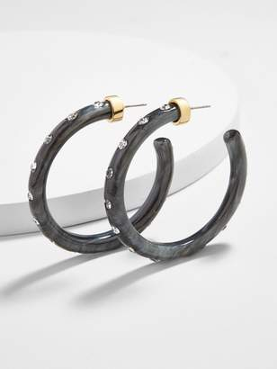 BaubleBar Teryn Resin Hoop Earrings
