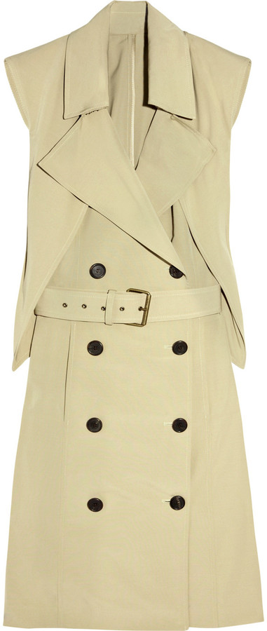 Derek Lam Two-piece twill trench dress
