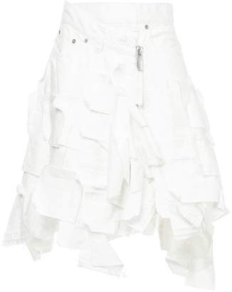 Sacai deconstructed denim skirt