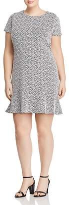 MICHAEL Michael Kors Floral Jacquard Knit Flounce Dress