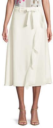 Calvin Klein Ruffle-Trimmed Wrap Skirt