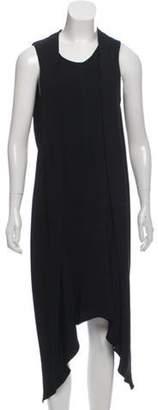 Marni Sleeveless Asymmetrical Dress Black Sleeveless Asymmetrical Dress