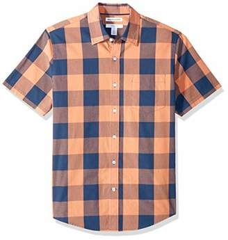 9bfe60246 Amazon Essentials Slim-Fit Short-Sleeve Check Shirt Button