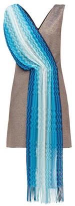 M Missoni Vintage Scarf Lame Mini Dress - Womens - Blue Multi