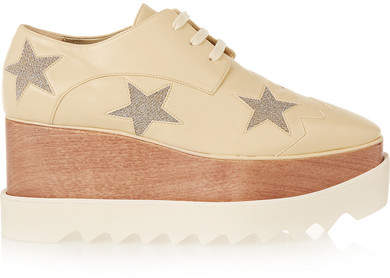 Stella McCartney - Faux Leather Platform Brogues - Neutral