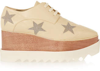 Stella McCartney Faux Leather Platform Brogues - Neutral