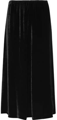 McQ Velvet Midi Skirt - Black