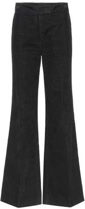 ALEXACHUNG Flared high-waisted corduroy trousers