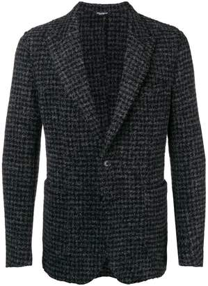 Dolce & Gabbana knitted check jacket