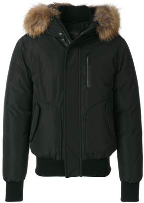 Mackage bomber jacket with raccoon fur hood