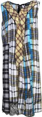 Marc Jacobs Patchwork Plaid Silk Crepe De Chine Midi Dress