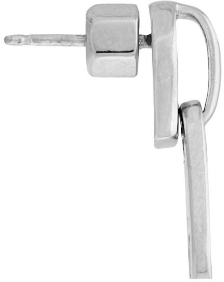 Marc by Marc Jacobs Zip It brass earrings