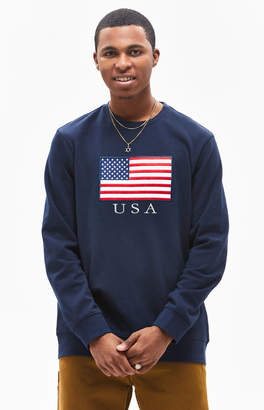 PacSun Nation Oversized Crew Neck Sweatshirt