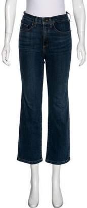 Veronica Beard Mid-Rise Straight-Leg Jeans