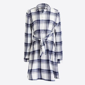 J.Crew Tie-waist flannel shirtdress