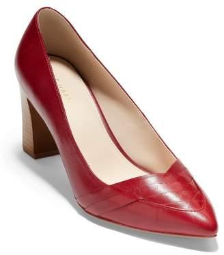 Cole Haan Eliisa Leather Pointed Toe Block Heel Pump
