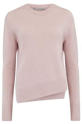 Vince Asymmetric Crew Neck Jumper in Cherry Blossom