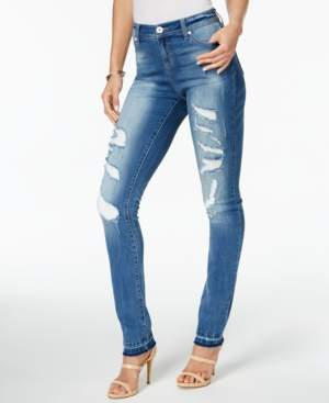 INC International Concepts I.n.c. Curvy-Fit Ripped Skinny Jeans, Created for Macy's