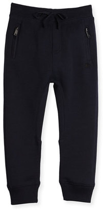 Burberry Phill Cotton Track Pants, Dark Navy, Size 4-14 $110 thestylecure.com