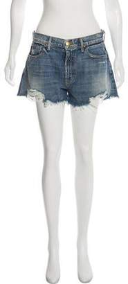 The Great Distressed High-Rise Shorts w/ Tags