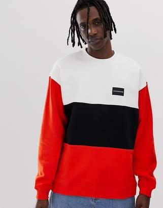 Calvin Klein Jeans colour block crew neck sweatshirt
