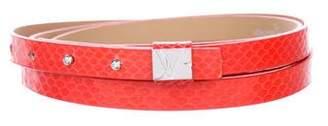 Diane von Furstenberg Wrap-Around Logo Belt