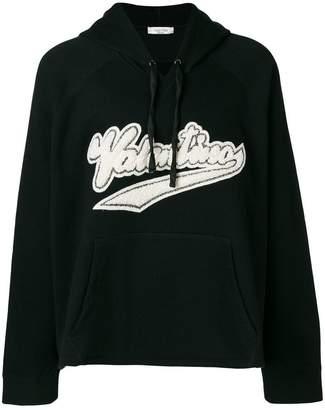 Valentino logo print hoodie