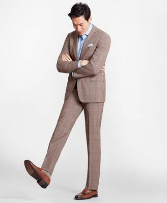 Brooks Brothers Regent Fit BrooksCool Brown Check Suit