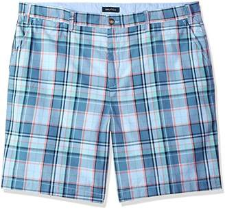 Nautica Men's Big and Tall Cotton Twill Flat Front Chino Deck Short