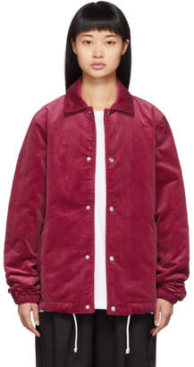 Comme des Garcons Red Corduroy Jacket