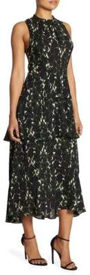 A.L.C. Waylon Tiered Silk Maxi Dress
