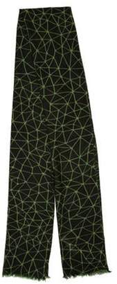 Armand Diradourian Patterned Wool & Cashmere-Blend Scarf w/ Tags green Patterned Wool & Cashmere-Blend Scarf w/ Tags