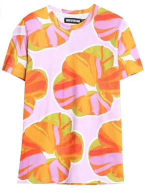 House of Holland Printed Cotton-Jersey T-Shirt
