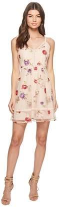 BB Dakota Gemma Embroidered Fit and Flare Dress Women's Dress