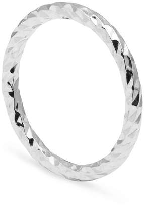Myia Bonner Silver Faceted Diamond Band