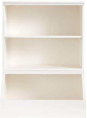 Pottery Barn Kids Cameron Bookcase Cubby and Market Bin Base, Simply White