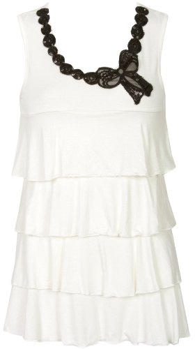 Bow Tie Tiered Top